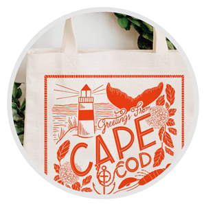 Cape Cod tote bag representing Accessories Gift options from Wish Gift Co.
