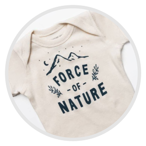 "Kids tee shirt that says, ""Force of Nature"", representing Gift options for kids at Wish Gift Co"