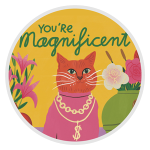 "Note pad that says, ""You're Magnificent"" representing Stationery and Office Gift options from Wish Gift Co."